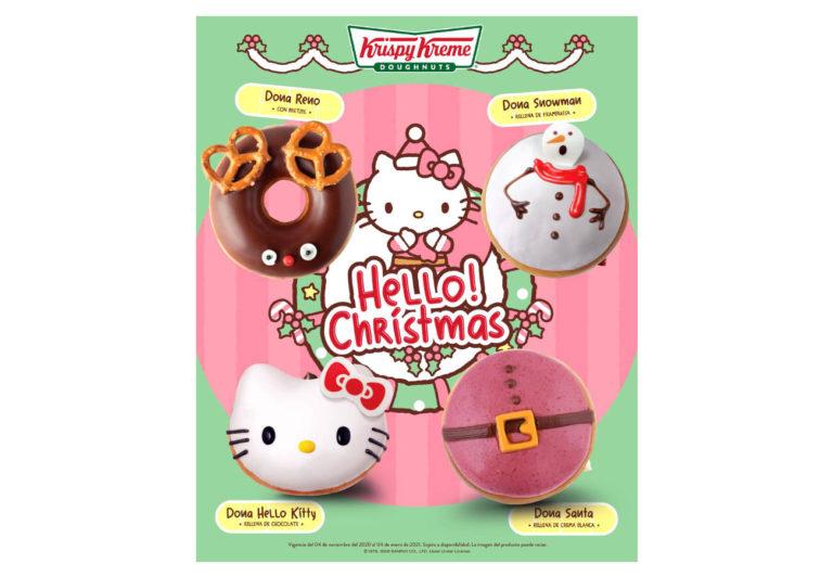 Krispy Kreme y Hello Kitty te invita a celebrar la época de  Christmas