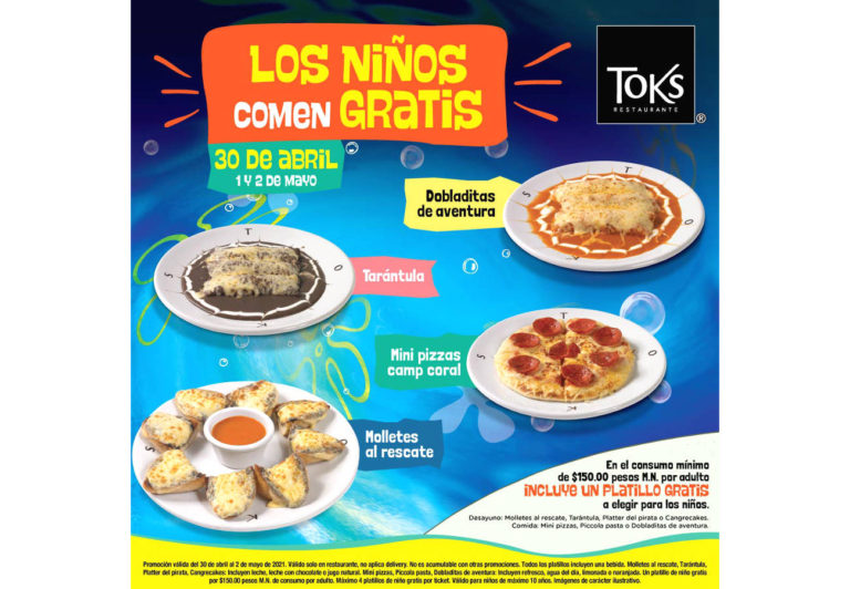 Restaurantes Toks celebra a los niños en su día