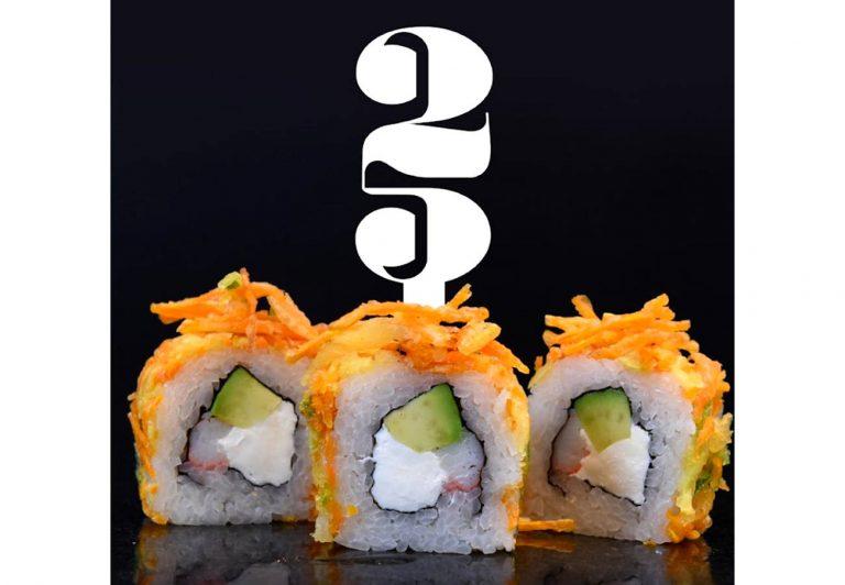 Sushi Roll celebra 25 años de operación en México y festeja con promociones al 2×1