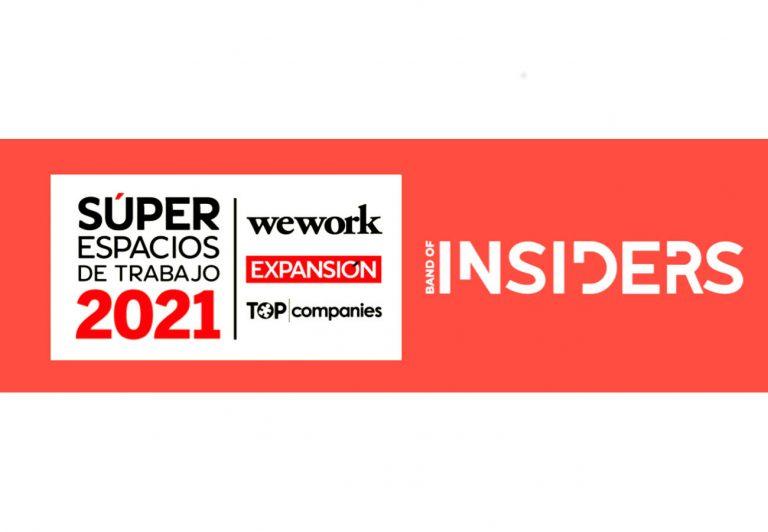 """Band of Insiders forma parte del Ranking de """"Súper Espacios de Trabajo 2021"""""""