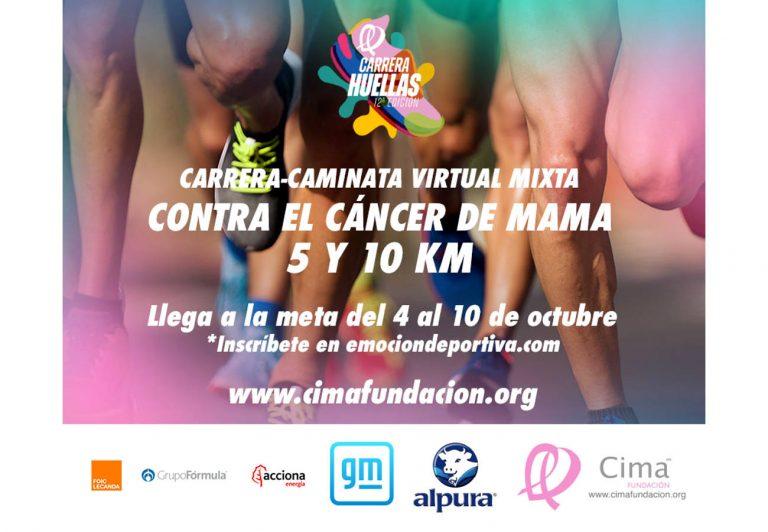 Fundación CIMA en alianza con Emoción Deportiva realizan la carrera Huellas, para ayudar a las mujeres con cáncer de mama