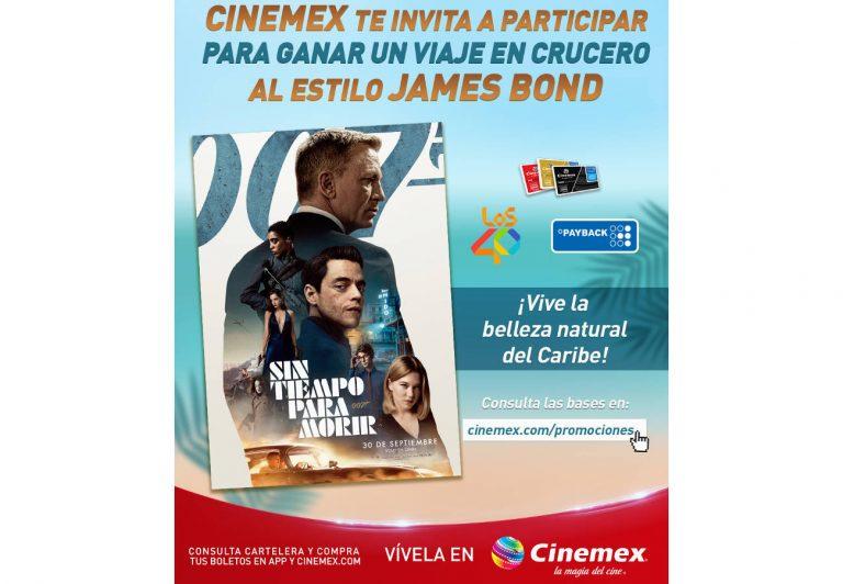"""Cinemex presenta una promo de película """"James Bond Sin Tiempo Para Morir"""""""