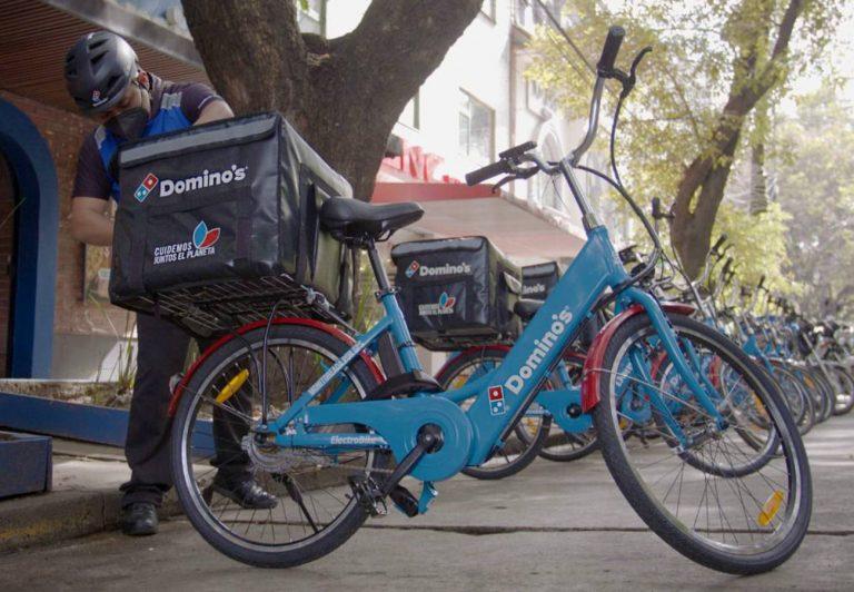 Domino´s y ElectroBike, entregas en bicicletas eléctricas