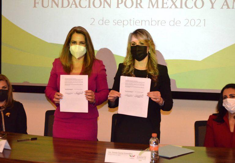 Fundación Por México y la Asociación Mexicana de Mujeres Jefas de Empresafirmaron convenio de colaboración