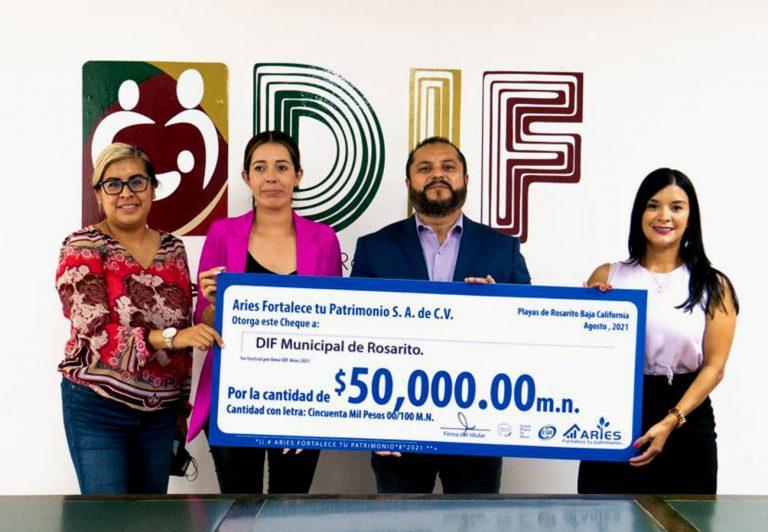 Grupo Aries, realiza donativo al DIF Municipal de Rosarito