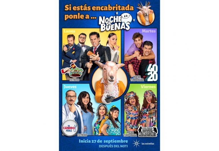 'NOCHE DE BUENAS', presenta nuevas temporadas, se renueva y estrena Perdiendo el Juicio