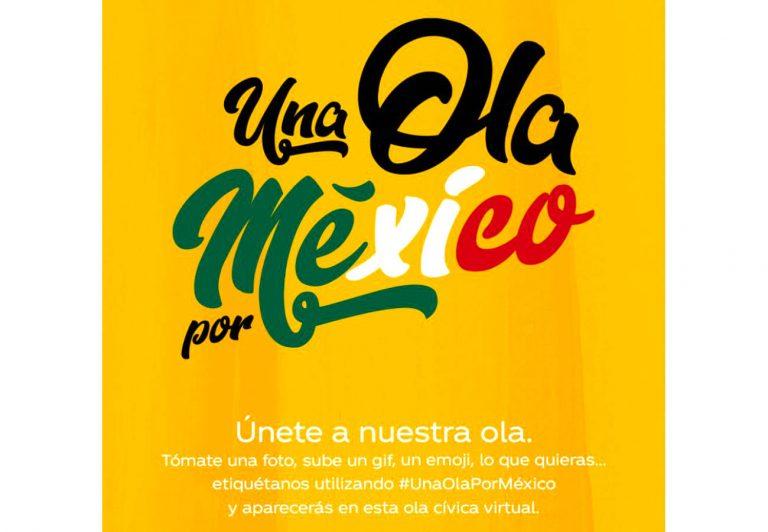 'Una Ola por México', una campaña que busca demostrar que, juntos, podemos lograr grandes cosas