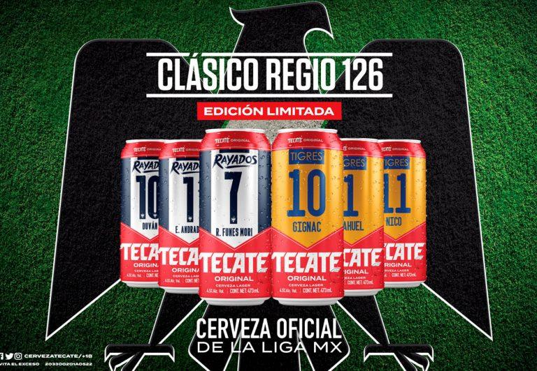 Tecate lanza edición limitada de latas de Tigres y Rayados