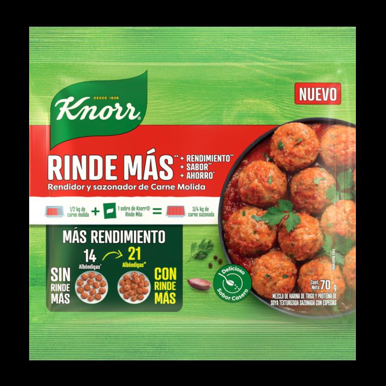 Conoce el 'Nuevo Rinde Más de Knorr', para comidas abundantes!