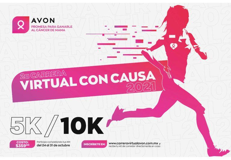 AVON invita a sy Carrera Virtual con Causa 2021