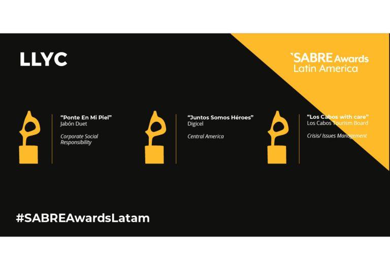 LLYC logra tres premios en los Latin American SABRE Awards 2021