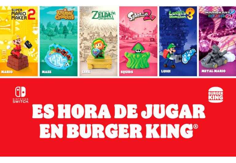 BURGER KING y NINTENDO traen una promo muy especial por tiempo limitado